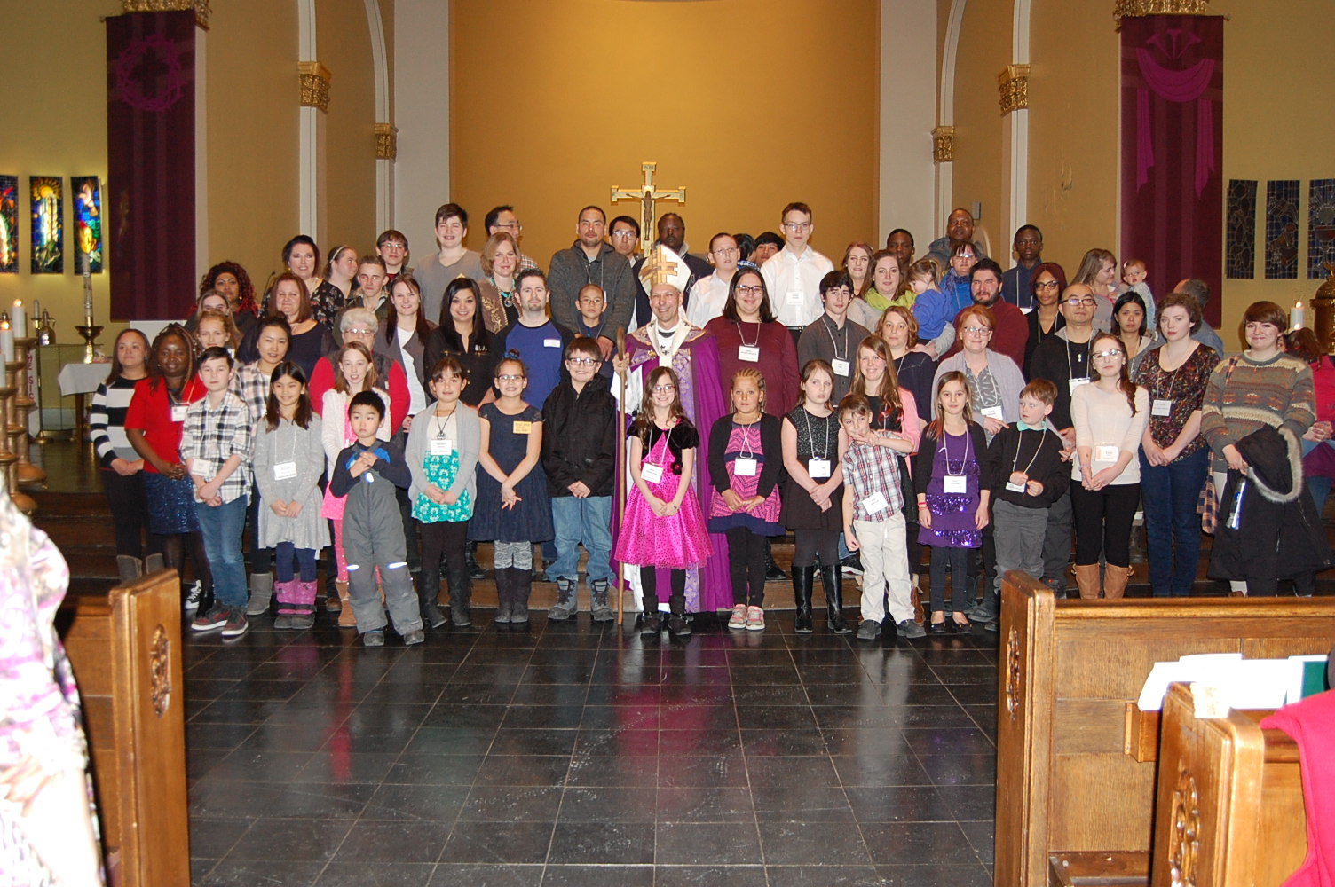 Catechumens at Rite of Elect
