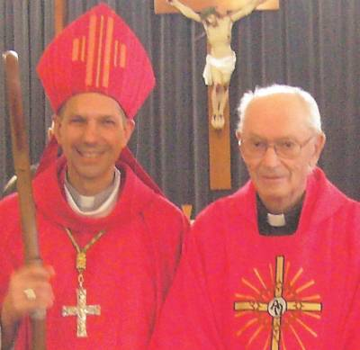 Bishop Bolen and Fr. Lacasse