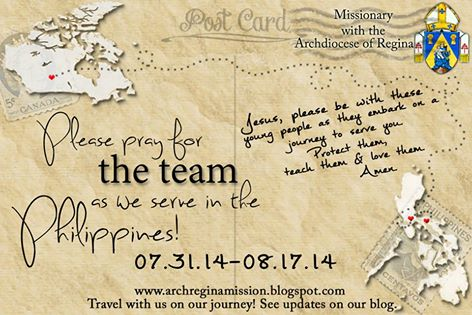 Blog site for the missions trip